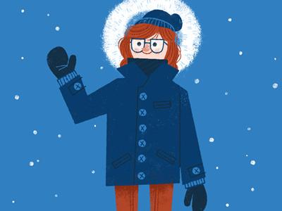 Bundling Up illustration winter bundle up nordic