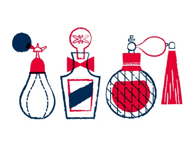Perfume Illos/Icons two-color illustrations icons bottles perfume