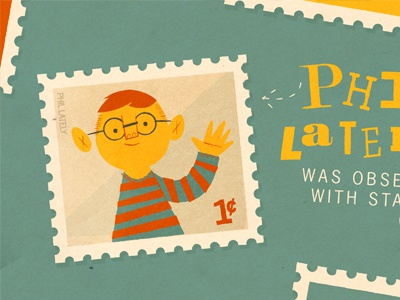 Phil Lately illustration stamps childrens book