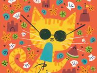 Summer Cool Cat