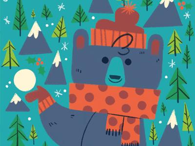 Chilly Bear bear snow winter seasons illustration
