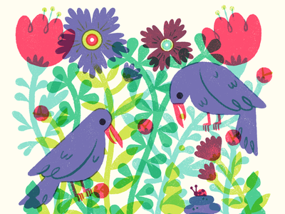 Garden Goals overlays plants garden illustration illustration swap tenpacesanddraw