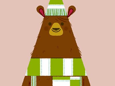 Triangle Bear christmas triangle bear illustration