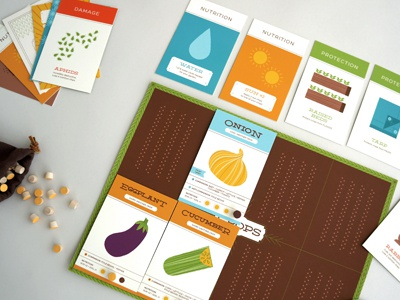 Grow: The Game of Gardening illustration design gardening game cards board vegetables
