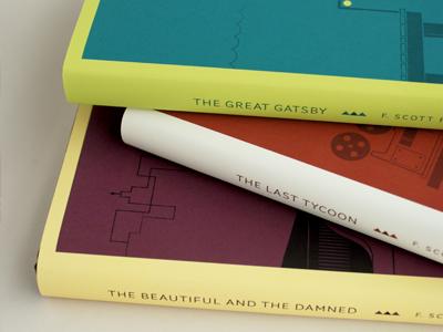 F. Scott Fitzgerald illustration design book covers book jackets