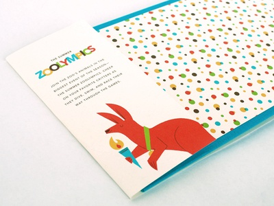 The Summer Zoolympics illustration childrens book zoo animals olympics endpapers kangaroo torch