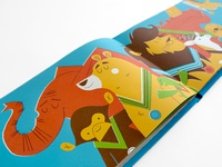 The Summer Zoolympics Celebration! illustration childrens book zoo animals olympics endpapers kangaroo torchi am very