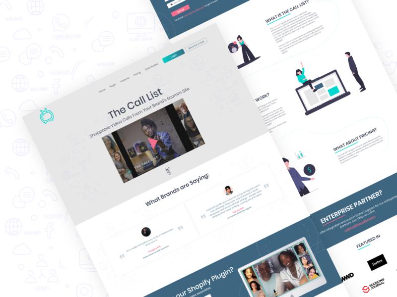 The Call List - Shopify App video minimalist startup saas isometric ecommerce app shopify landing page web design web ux ui minimal illustration