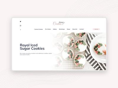 Free Adobe XD Cookies Store Concept landing page branding typography minimalist minimal ecommerce design ux web ui