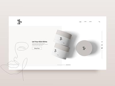 Beauty product website minimal minimalist branding lineart line vector web ux ui design ecommerce