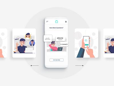 The Call List - Shopify App vector illustraion mobile app mobile responsive logo app adobe xd branding minimal minimalist ux ui ecommerce design