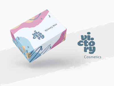 Victory Cosmetics | Package Design Beauty Box illustration beauty beauty product cosmetics package packaging design branding minimal design ecommerce