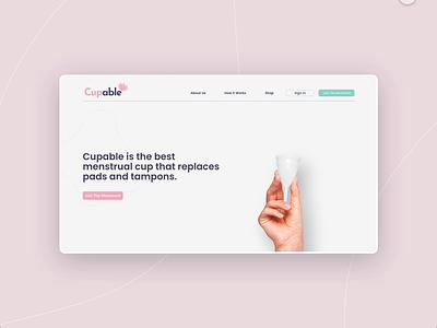 Menstrual Cups Project / Cupable web design vector adobe xd landing page minimalist web ux ui design