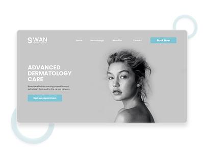 Swan Dermatology Clean Web Design dermatology cosmetics beauty shopify landing page minimal minimalist web ux ui ecommerce design