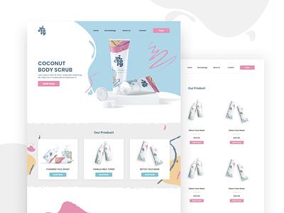 Victory Cosmetics & Beauty Products Store beauty shopify landing page minimal minimalist web ux ui ecommerce design