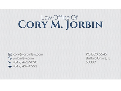 Business cards for the law office of cory m jorbin by aaron jorbin cj reheart Image collections