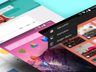 Android GUI kit  vector gui android nexus5 nexus7