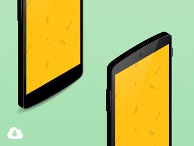 Android Nexus 5 Isometric Mockup device freebie download isometric vector nexus5 mockup android perspective illustrator cs6