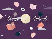 Sleep school illustration