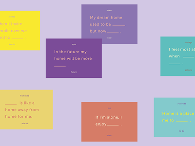 Future home ______ blank cards cards design research hcd methods research kit cultural probe
