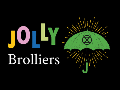 Jolly Brolliers branding xr logo jolly action