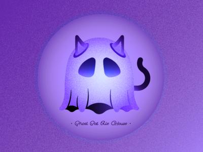 Ghost Cat Ale House designer design illustration illustrator