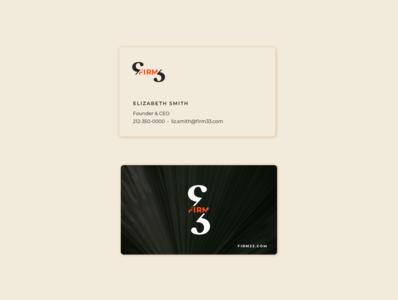 Firm 33 Business Card brand design designer illustrator logo vector branding design