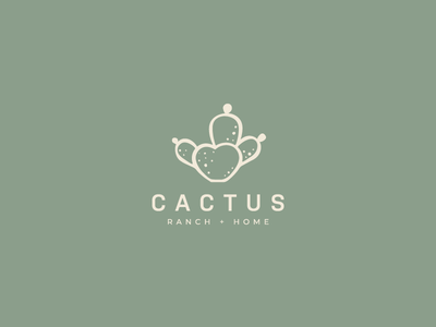 Cactus Ranch and Home Logo Concept adobe brand design logo design logo designer illustration branding vector illustrator design
