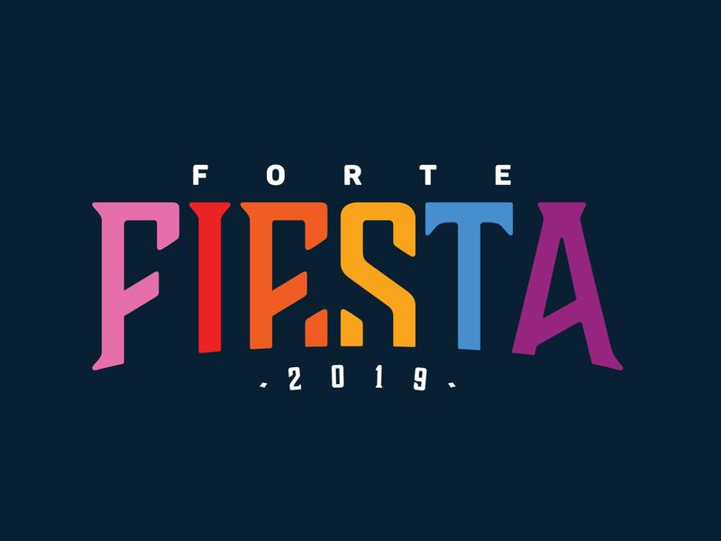 Forte Fiesta Logo typography branding vector logo design
