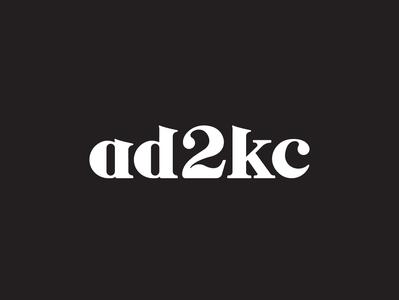Ad2KC Logo Re-design typography branding design logo