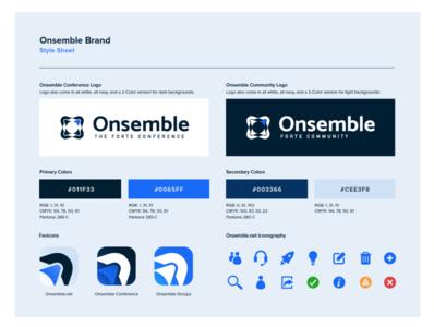 Onsemble Conference + Community Re-design vector favicon branding design logo