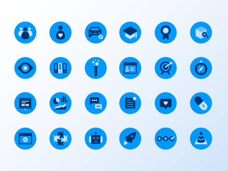 Custom Icons forte icon set icon design iconography icon library icon