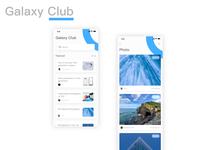 Galaxy Club App club samsung galaxy 应用 ux ui