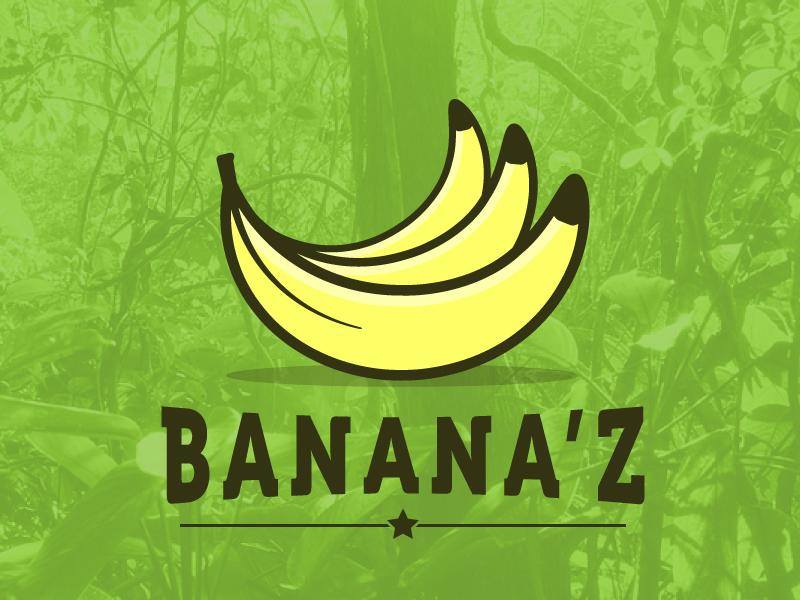 Banana'z banana process circle effects transform logo