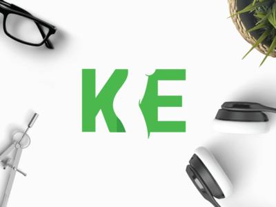Silhouette KE skin feminine shape woman ek ke e k letter logo silhouette