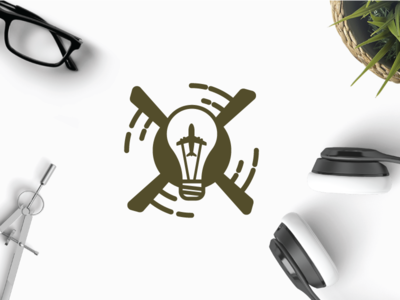 Smart Fly ideea creative innovative army plane sky up helicopter fly smart logo