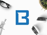 CB smart alphabet sell buy unique space negative letters monogram logo cb