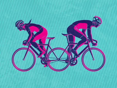 Fyxation Open 5 race illustrator hello dribbble equality bicycle vector poster art illustration fixed gear design cyclist cycling