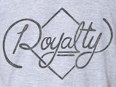 Royalty kansas city typography screen print tshirt royals hand drawn type