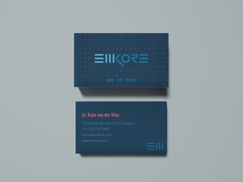 Emkore Limited Name Cards business card design design graphic design fontawesome branding namecard name card businesscard business card print design