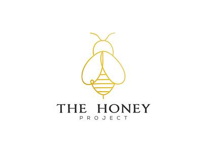 The Honey Project brand professional logo simple logo modern logo flat design graphic design logo design branding minimal flat vector logo design