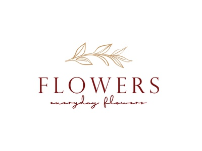Floral logo, Botanical logo floral minimal hand drawn flower botanical luxury logo floral design brand graphic design illustrator logo