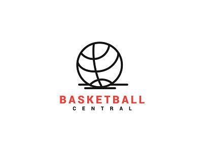 Basketball Central minimal clean design simple sports basketball logo illustration graphicdesign flatdesign simple logo brand logo designer modern logo flat design graphic design professional logo logo design illustrator logo