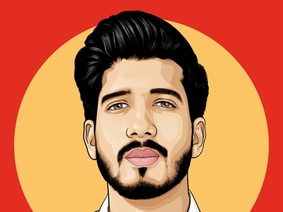 Caricature awesome face flatdesign illustraion design colorful eyecatching modern portrait vector realistic avatar caricature