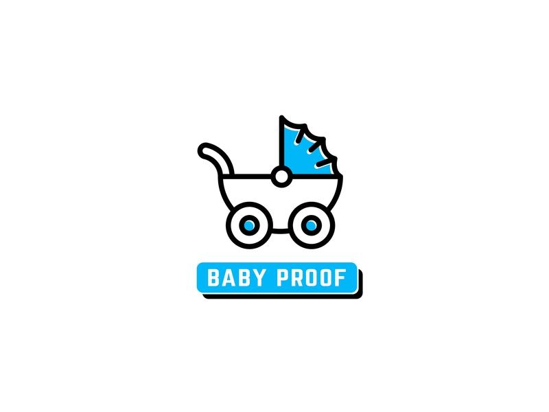 Baby Proof baby pusher baby logo professional logo design app logo illustrator creative design modern logo graphic design flat design logo logo design