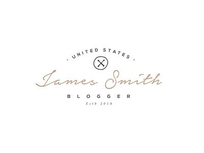 James Smith blogger united states hand drawn brand simple logo logo designer professional logo graphic design illustrator logo design logo
