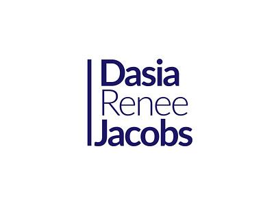 Dasia Renee Jacobs simple logo clothing brand brand fonts graphic design flat design professional logo illustrator logo design logo