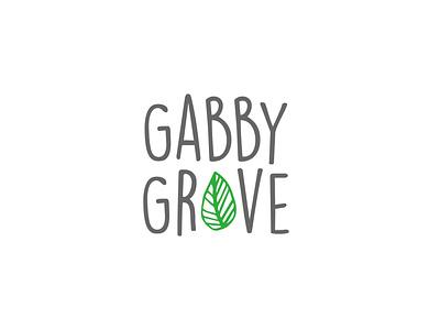 Gabby Grove leave hand drawn simple brand simple logo professional logo graphic design illustrator logo design logo