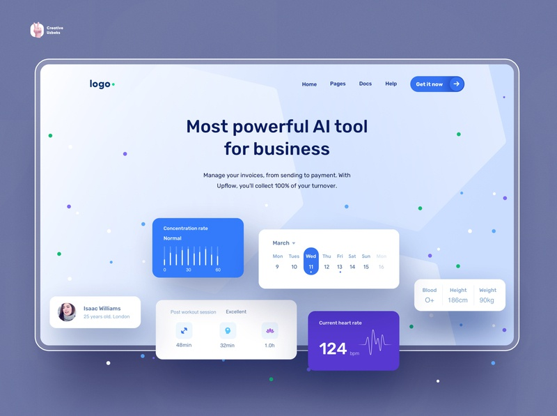 Fleylog | One page diagram card tool dashboad logistics onepage app blue landing page ux web design ui