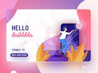 💫 Hello Dribbble